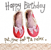 Alex Clark Art - Greeting Card - Little Sparkles - Slippers Birthday